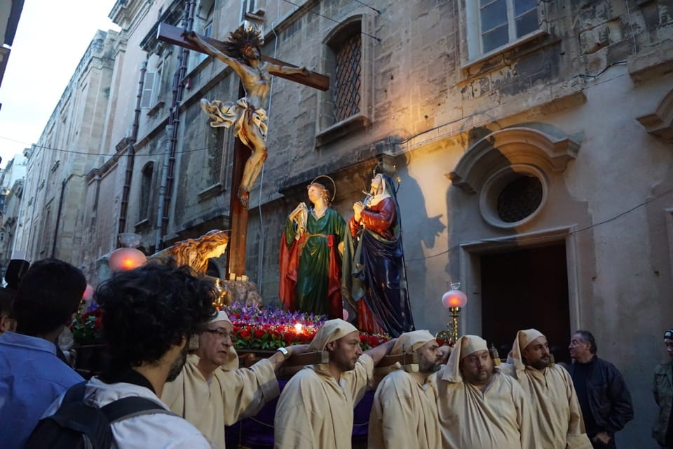 People carrying Christ statue during Good Friday Procession