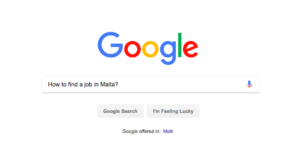 Google Text how to find a job in malta
