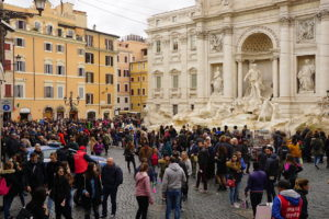 A busy weekend in Rome Trevi Fountain