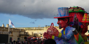 Carnival in Malta People and Caravans