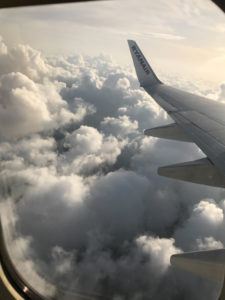 flying ryanair view