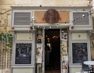 Café society bar in Valletta