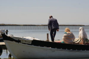 Falla dress on boat albufera