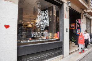 Sabotage Vintage store in Valencia outside